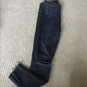 Le High Skinny Dark Blue Open Knees Size 27